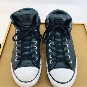 Converse Leather High Tops 11
